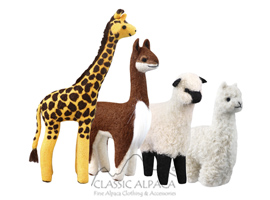 ALPACA FELTED ANIMALS