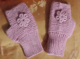Alpaca Kids Fingerless Gloves