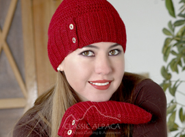Sophia Button Alpaca Hat