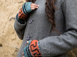 Dakota Alpaca Fingerless Gloves