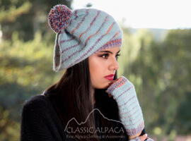 Brushed Beret Alpaca Hat