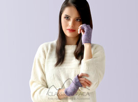 Alpaca Short Fingerless Gloves - Lurex