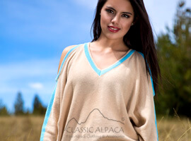 Cotton Baby Alpaca Pullover Cold Shoulder