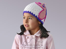 Alpaca Kids-Butterfly Hat