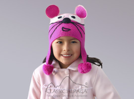 Alpaca Kids - Mouse Hat with Ear Flaps