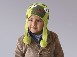 Alpaca Kids - Turtle Hat with Ear Flaps