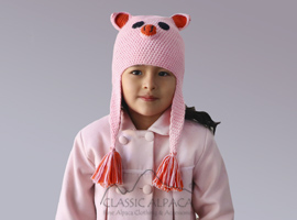 Alpaca Kids - Pig Hat with Ear Flaps