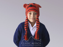 Alpaca Kids - Tiger Hat with Ear Flaps