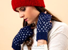 American Brushed Alpaca Fingerless Gloves