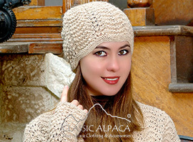 Scallop Lace Alpaca Hat