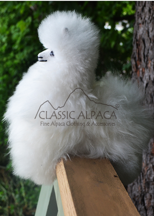 BABY Alpaca Fur-Peruvian Ornament 9 inches