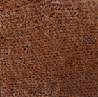 Alpaca Cable Fingerless Gloves in Amber Melange