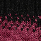 Montana Alpaca Fingerless Gloves in Natural-Magenta-Black