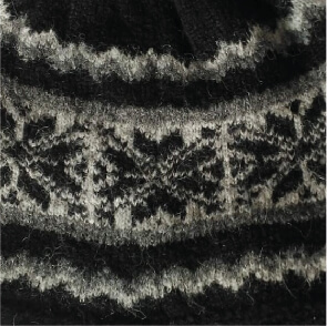 Nordic Brushed Alpaca Hat in Black-Charcoal