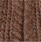 Braided knit Alpaca Headband in Cinnamon Melange