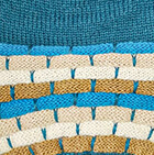 Justin Striped Alpaca Hat in Blue Lagoon-Multicolor