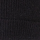 Men's Double Knit English Alpaca Hat in Black