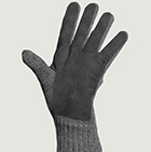 Alpaca Double Layer Driving Gloves in Grey-Grey