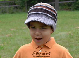 Alpaca Sesher Brimmed Hat-Kids