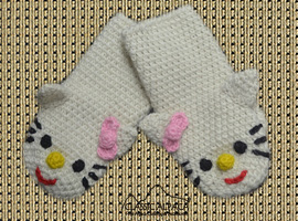 Alpaca Kids-Kitty Mittens
